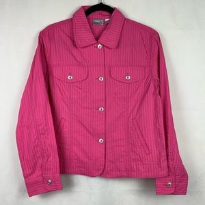 Chico's Pink Cotton Jacket Lightweight NWT 0 Small